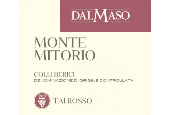 Italian wines in the world: Dal Maso's Montemitorio Colli Berici DOC Tai Rosso 2016